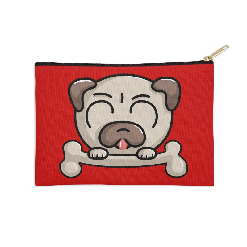Kawaii Cute Pug Dog Accessories Zip Pouch by Flaming Imp's Artist Shop