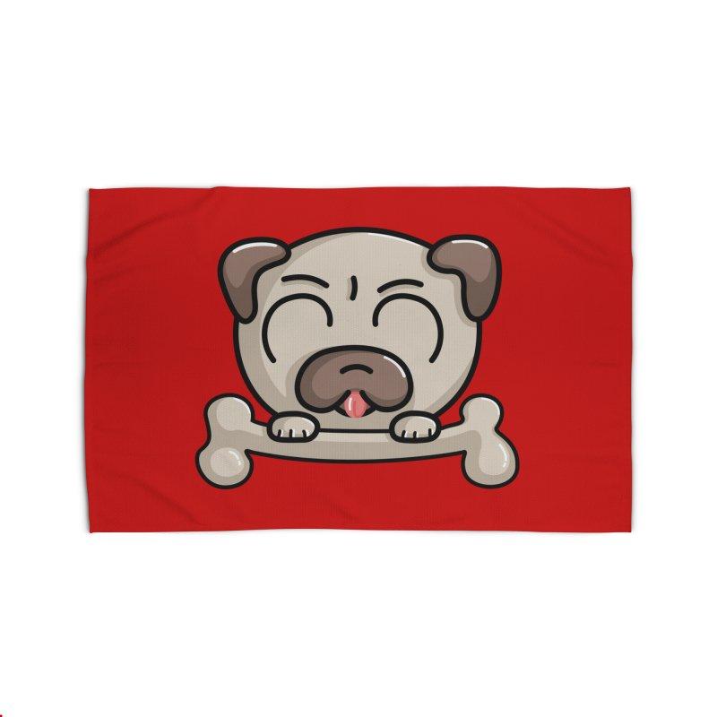 Kawaii Cute Pug Dog Home Rug by Flaming Imp's Artist Shop