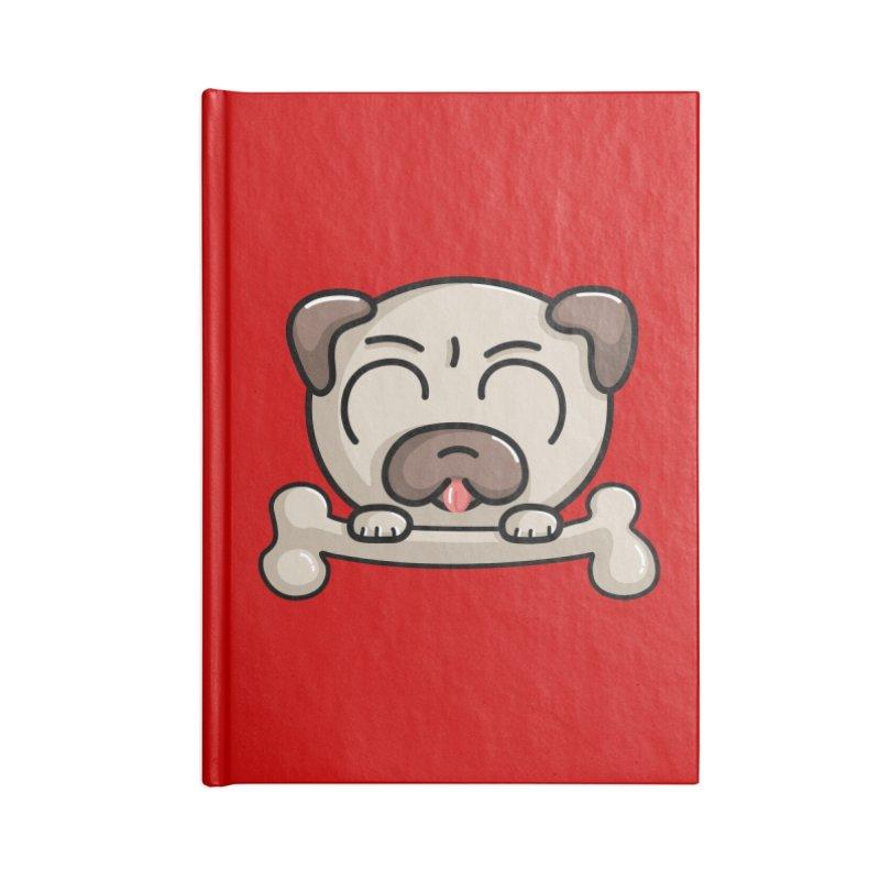 Kawaii Cute Pug Dog Accessories Notebook by Flaming Imp's Artist Shop