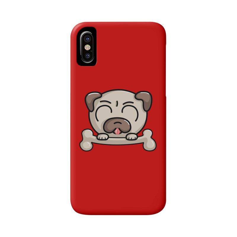 Kawaii Cute Pug Dog Accessories Phone Case by Flaming Imp's Artist Shop