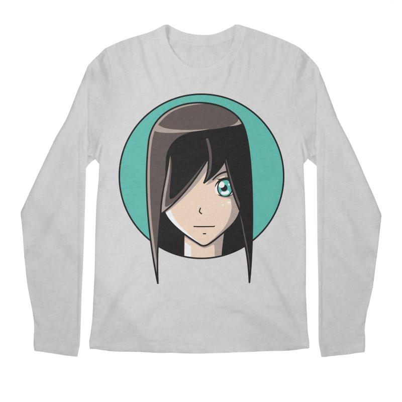 Anime Girl Men's Regular Longsleeve T-Shirt by Flaming Imp's Artist Shop