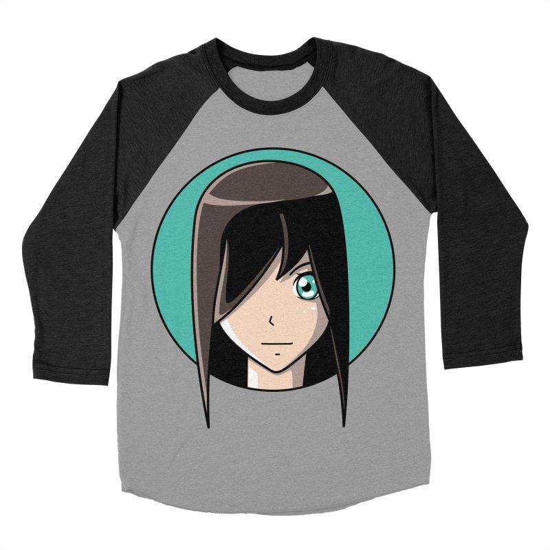 Anime Girl Women's Baseball Triblend T-Shirt by Flaming Imp's Artist Shop