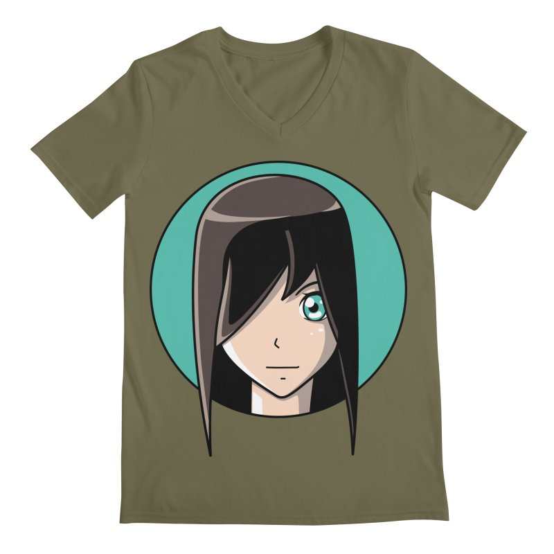 Anime Girl Men's V-Neck by Flaming Imp's Artist Shop