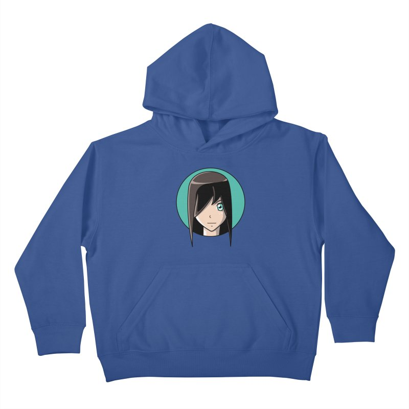 Anime Girl Kids Pullover Hoody by Flaming Imp's Artist Shop
