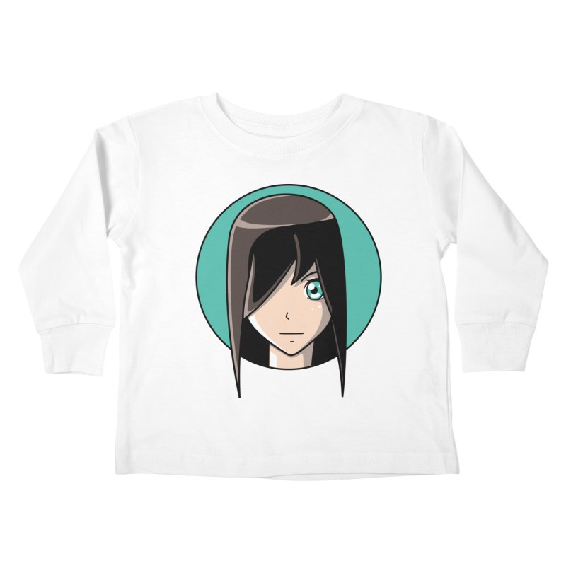 Anime Girl Kids Toddler Longsleeve T-Shirt by Flaming Imp's Artist Shop