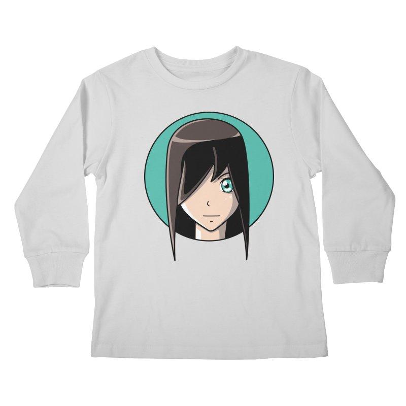 Anime Girl Kids Longsleeve T-Shirt by Flaming Imp's Artist Shop