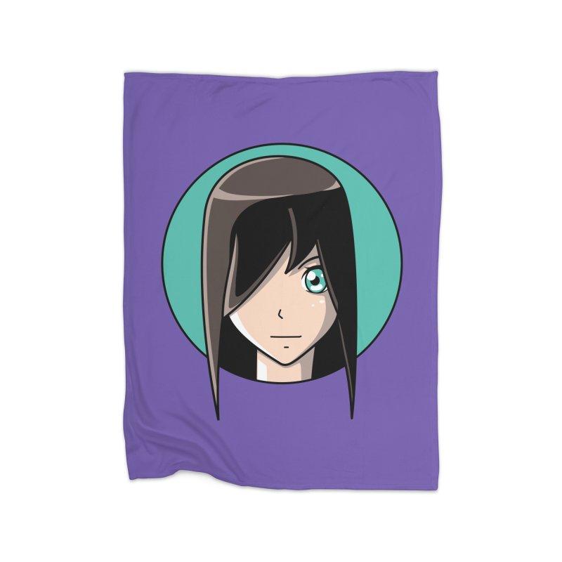 Anime Girl Home Blanket by Flaming Imp's Artist Shop