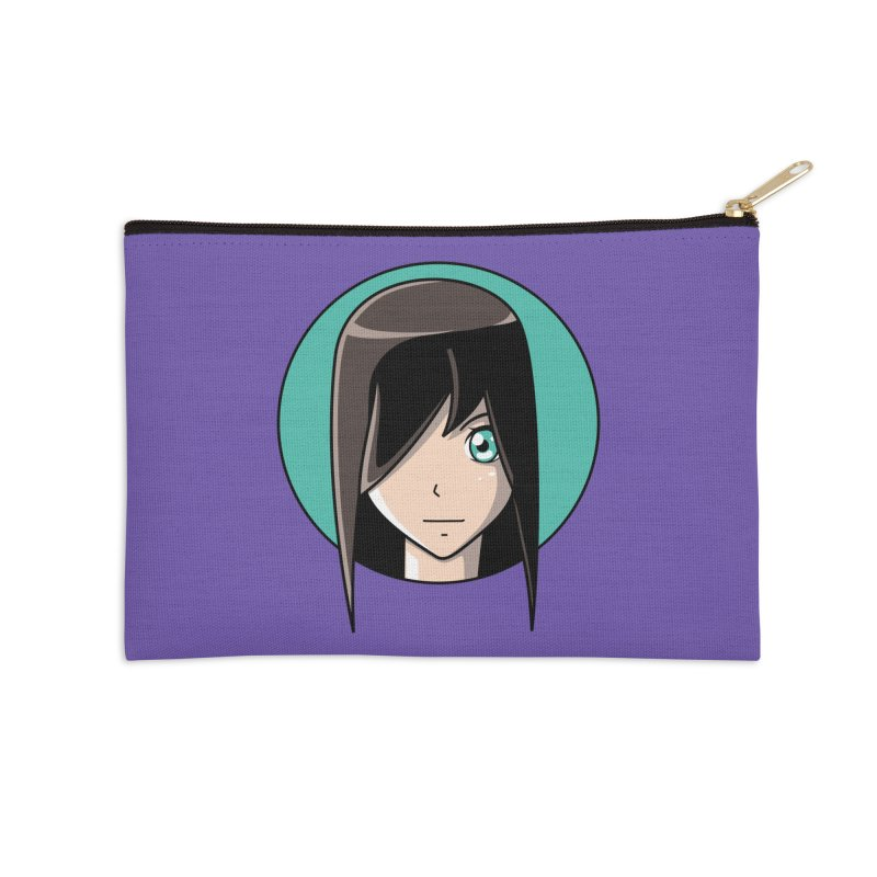 Anime Girl Accessories Zip Pouch by Flaming Imp's Artist Shop