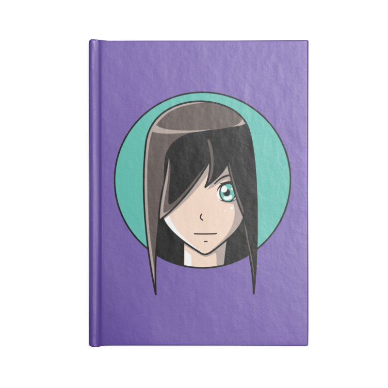 Anime Girl Accessories Notebook by Flaming Imp's Artist Shop