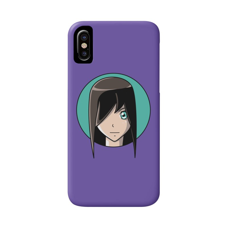 Anime Girl Accessories Phone Case by Flaming Imp's Artist Shop
