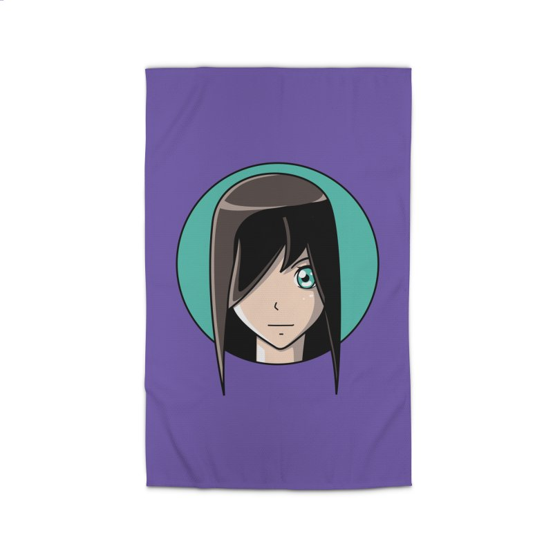 Anime Girl Home Rug by Flaming Imp's Artist Shop
