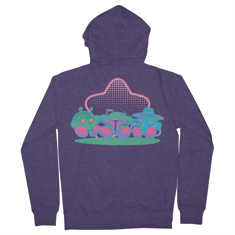 Bounty Hunter Star Friends Men's French Terry Zip-Up Hoody by Flaming Imp's Artist Shop