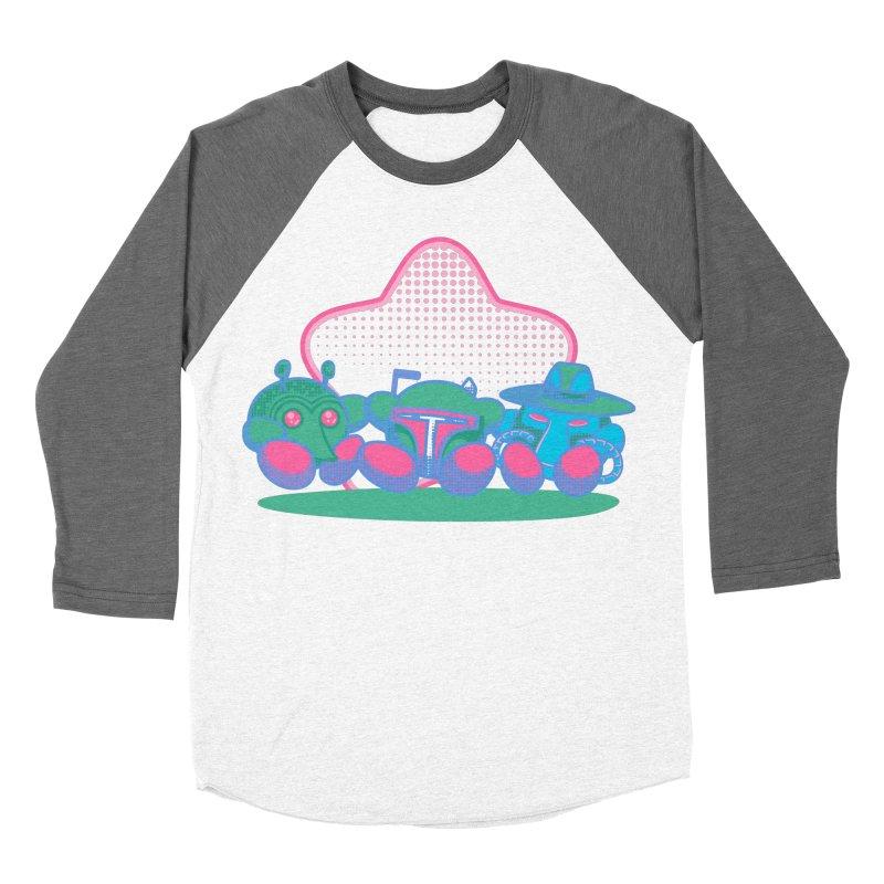 Bounty Hunter Star Friends Men's Baseball Triblend T-Shirt by Flaming Imp's Artist Shop