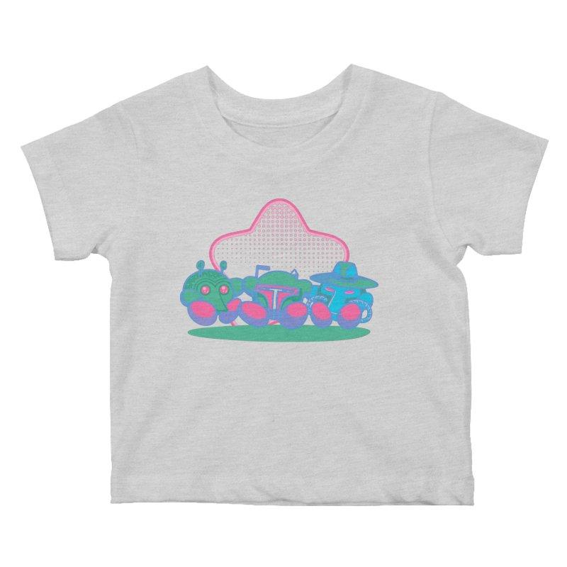 Bounty Hunter Star Friends Kids Baby T-Shirt by Flaming Imp's Artist Shop