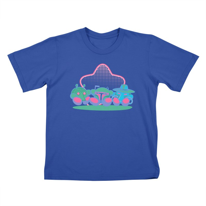 Bounty Hunter Star Friends Kids T-Shirt by Flaming Imp's Artist Shop