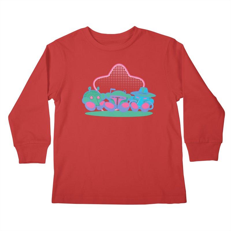 Bounty Hunter Star Friends Kids Longsleeve T-Shirt by Flaming Imp's Artist Shop