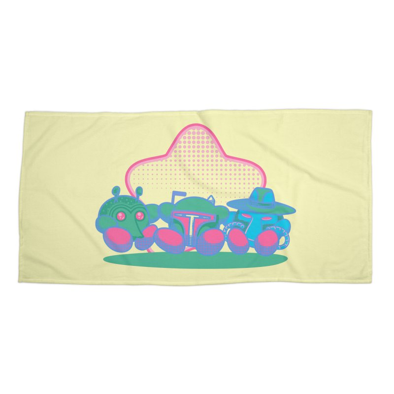 Bounty Hunter Star Friends Accessories Beach Towel by Flaming Imp's Artist Shop