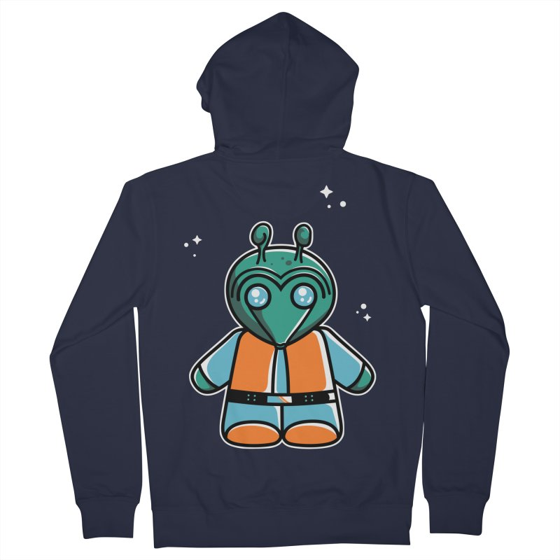 Greedo Cute Men's French Terry Zip-Up Hoody by Flaming Imp's Artist Shop