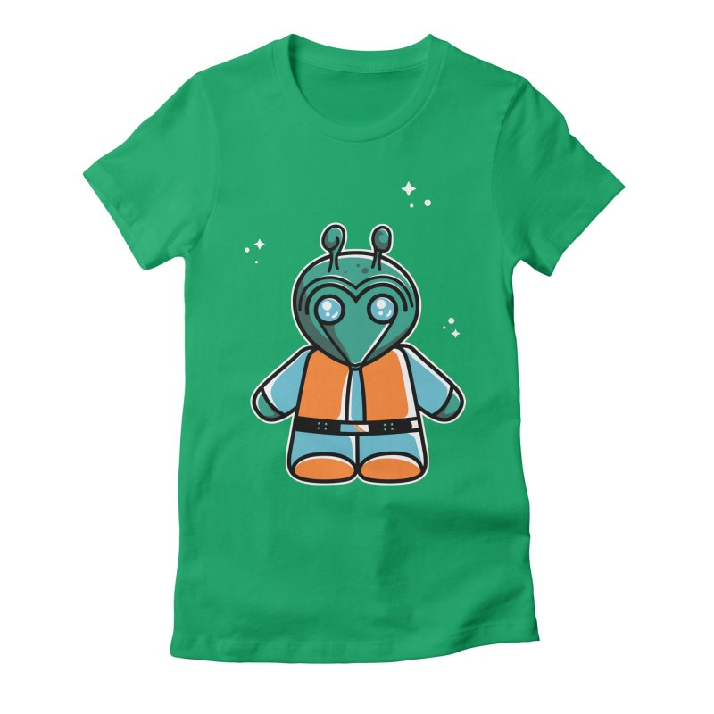 Greedo Cute Women's Fitted T-Shirt by Flaming Imp's Artist Shop