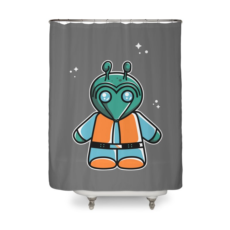 Greedo Cute Home Shower Curtain by Flaming Imp's Artist Shop
