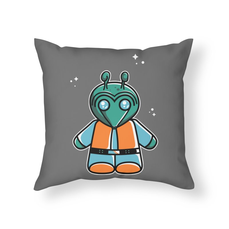 Greedo Cute Home Throw Pillow by Flaming Imp's Artist Shop