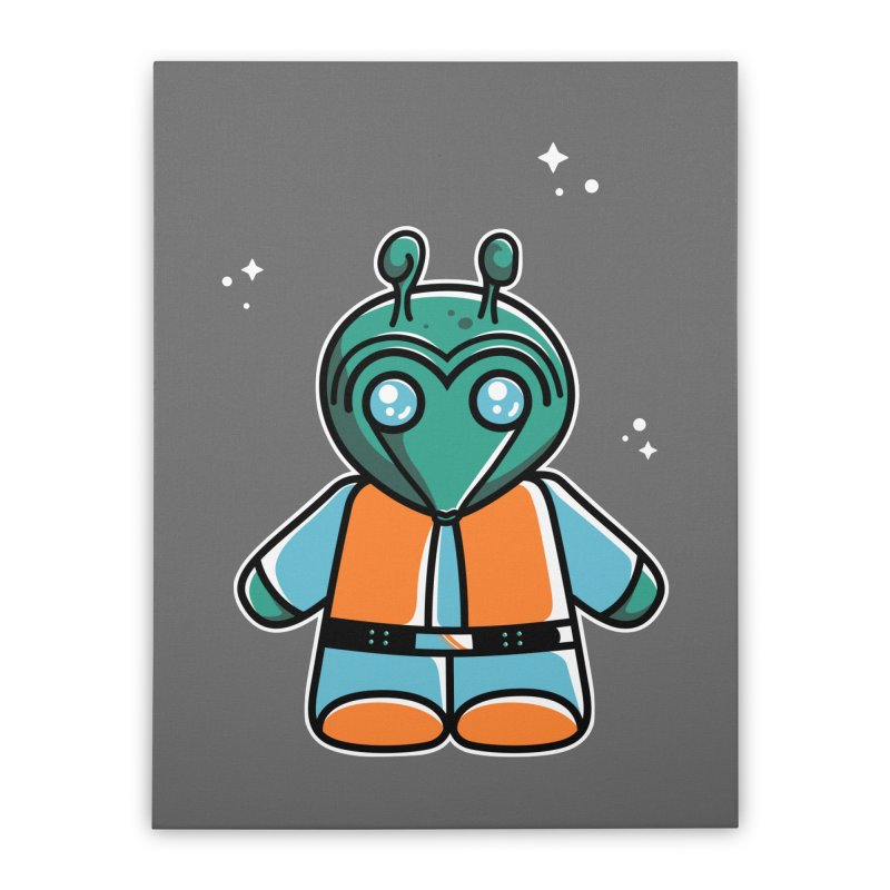 Greedo Cute Home Stretched Canvas by Flaming Imp's Artist Shop