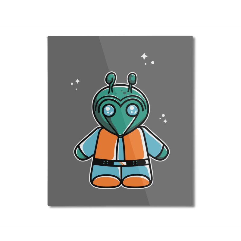 Greedo Cute Home Mounted Aluminum Print by Flaming Imp's Artist Shop