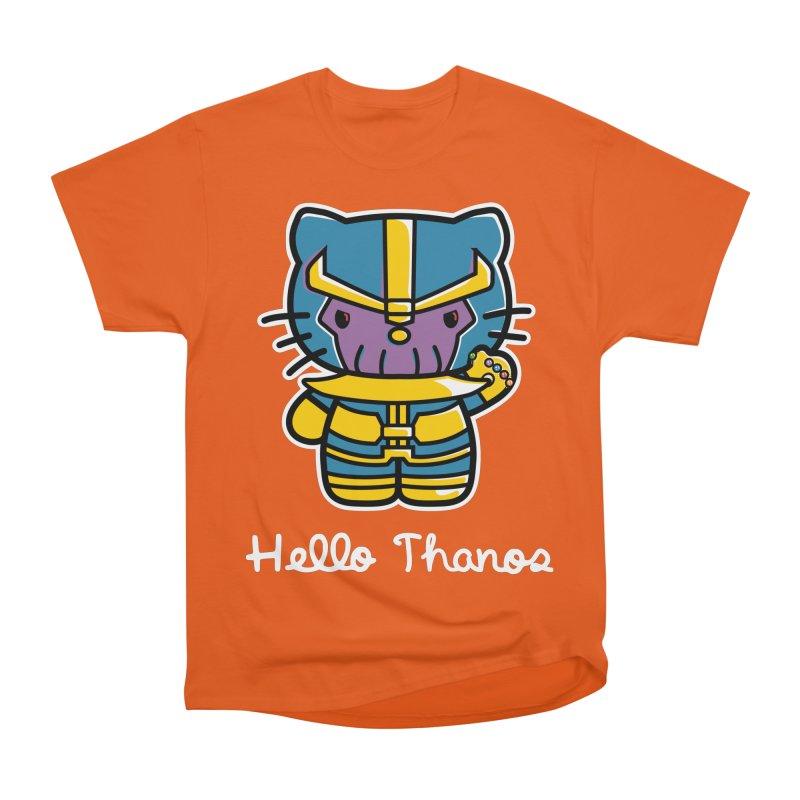 Hello Thanos Women's Heavyweight Unisex T-Shirt by Flaming Imp's Artist Shop