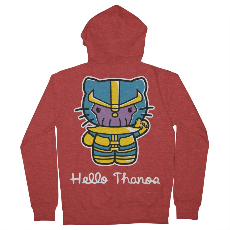 Hello Thanos Men's Zip-Up Hoody by Flaming Imp's Artist Shop