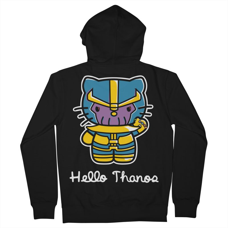 Hello Thanos Men's French Terry Zip-Up Hoody by Flaming Imp's Artist Shop