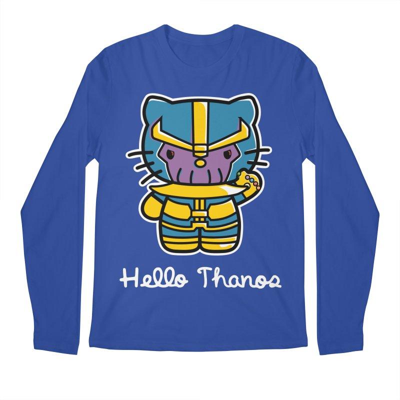 Hello Thanos Men's Regular Longsleeve T-Shirt by Flaming Imp's Artist Shop
