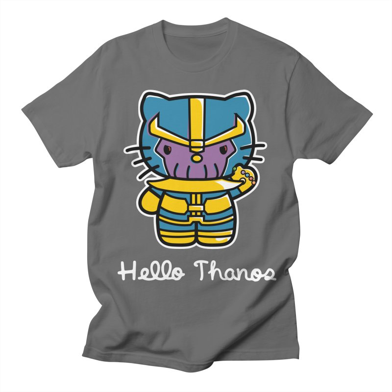 Hello Thanos Men's T-Shirt by Flaming Imp's Artist Shop
