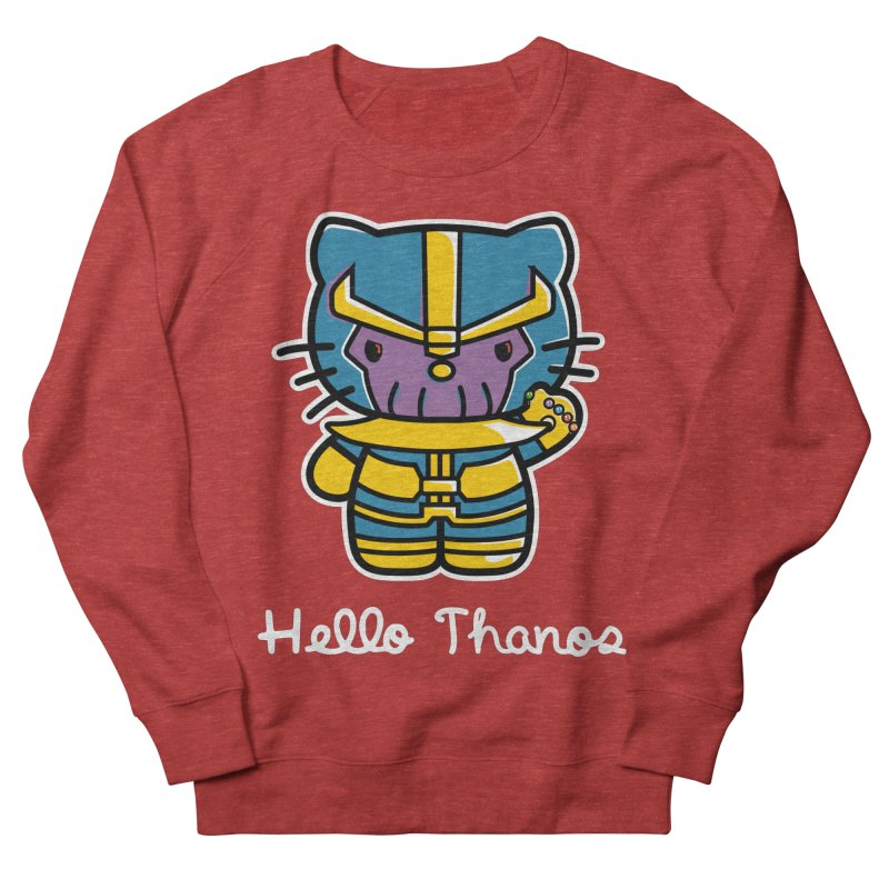 Hello Thanos Men's French Terry Sweatshirt by Flaming Imp's Artist Shop
