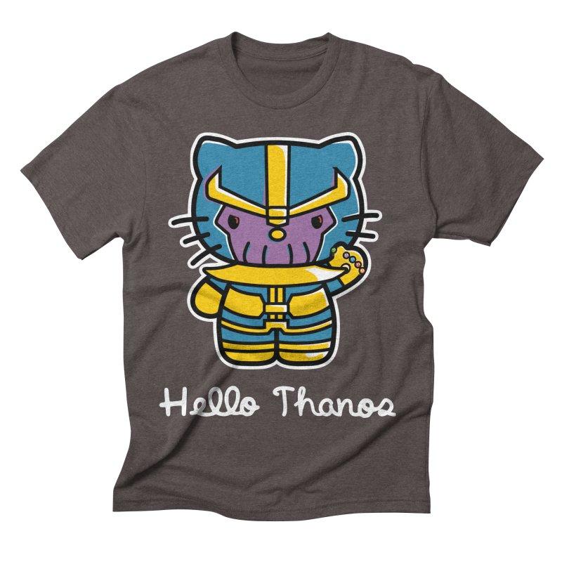 Hello Thanos Men's Triblend T-Shirt by Flaming Imp's Artist Shop