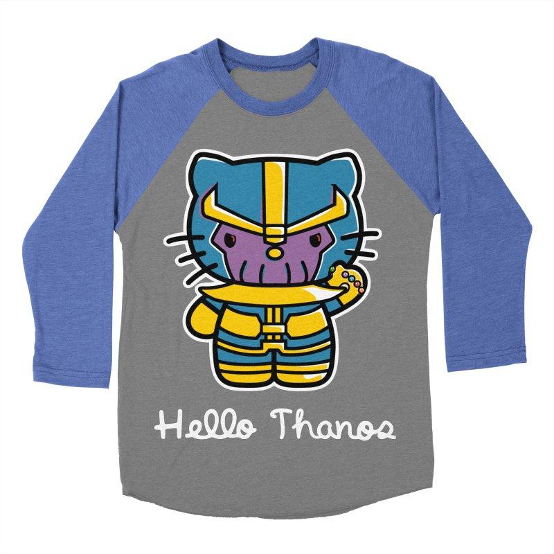 Hello Thanos Women's Baseball Triblend T-Shirt by Flaming Imp's Artist Shop