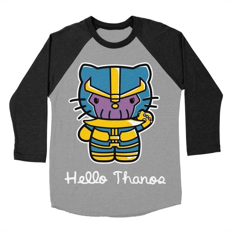 Hello Thanos Women's Baseball Triblend Longsleeve T-Shirt by Flaming Imp's Artist Shop