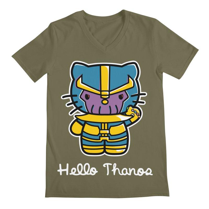 Hello Thanos Men's Regular V-Neck by Flaming Imp's Artist Shop