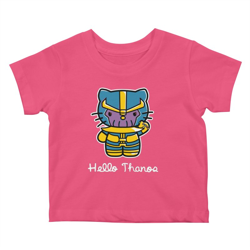 Hello Thanos Kids Baby T-Shirt by Flaming Imp's Artist Shop