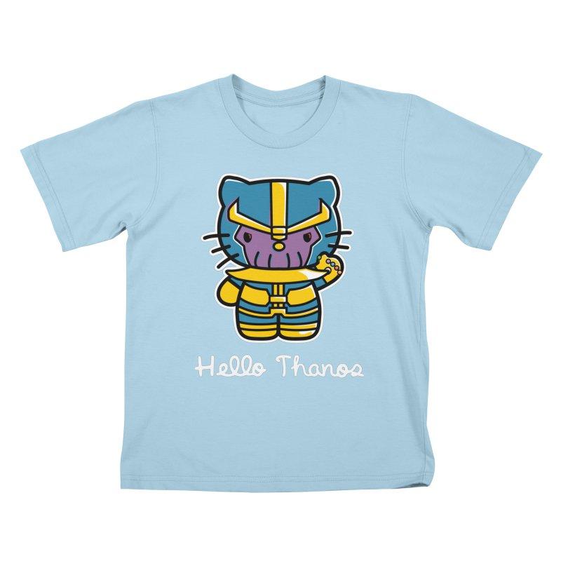 Hello Thanos Kids T-Shirt by Flaming Imp's Artist Shop