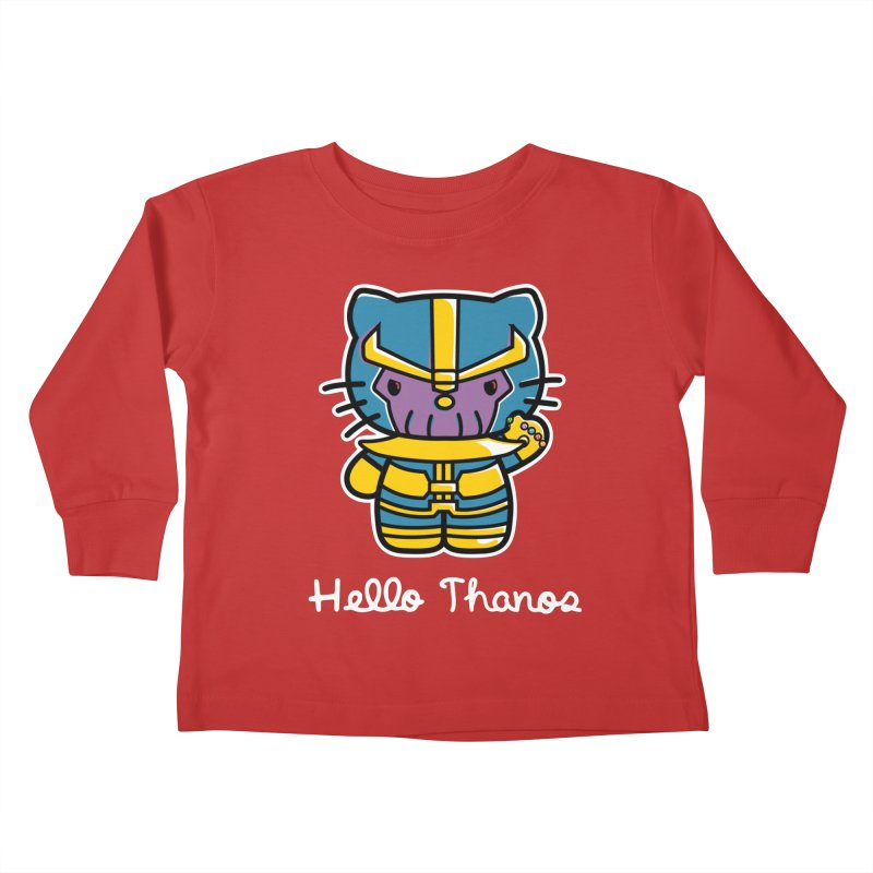 Hello Thanos Kids Toddler Longsleeve T-Shirt by Flaming Imp's Artist Shop