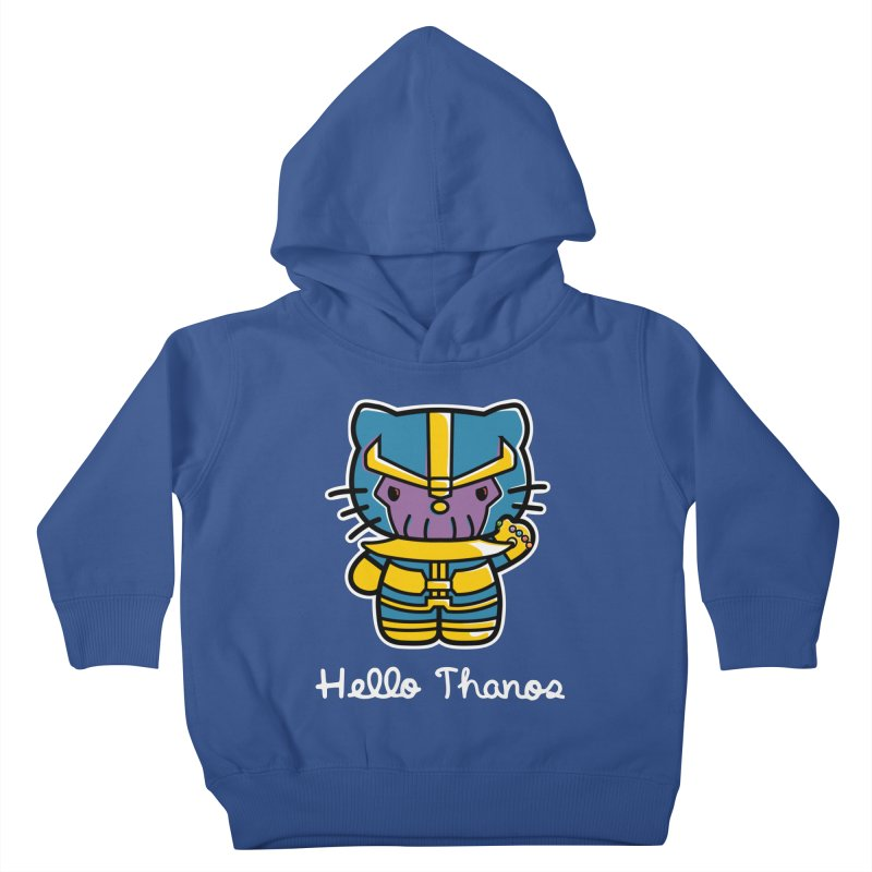 Hello Thanos Kids Toddler Pullover Hoody by Flaming Imp's Artist Shop