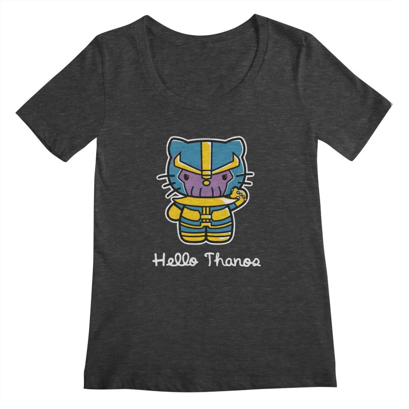 Hello Thanos Women's Scoopneck by Flaming Imp's Artist Shop