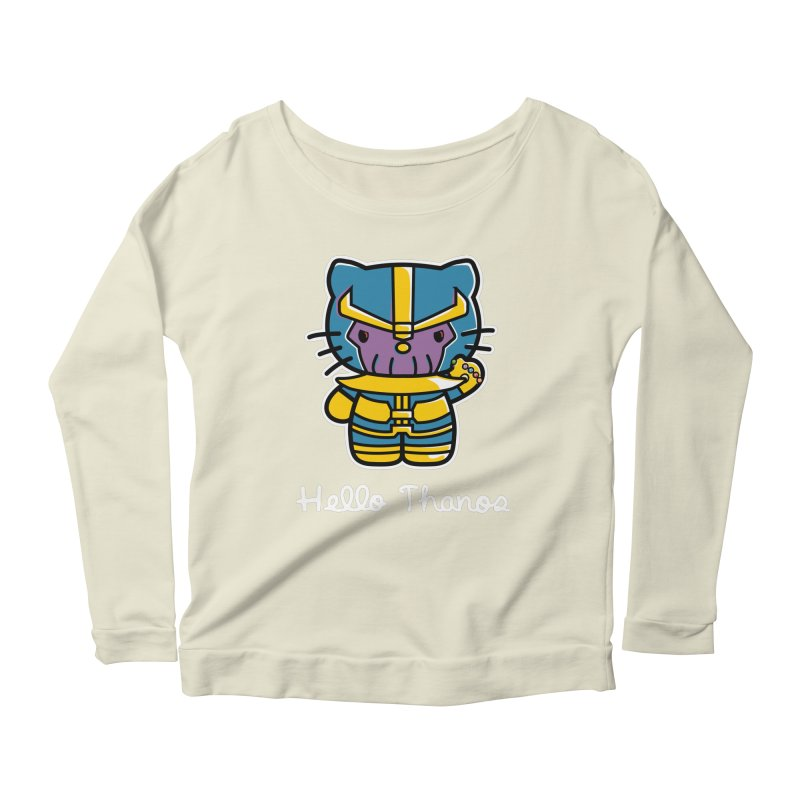 Hello Thanos Women's Scoop Neck Longsleeve T-Shirt by Flaming Imp's Artist Shop