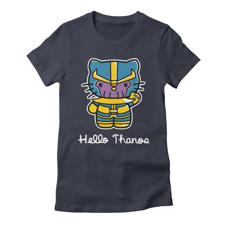 Hello Thanos Women's Fitted T-Shirt by Flaming Imp's Artist Shop