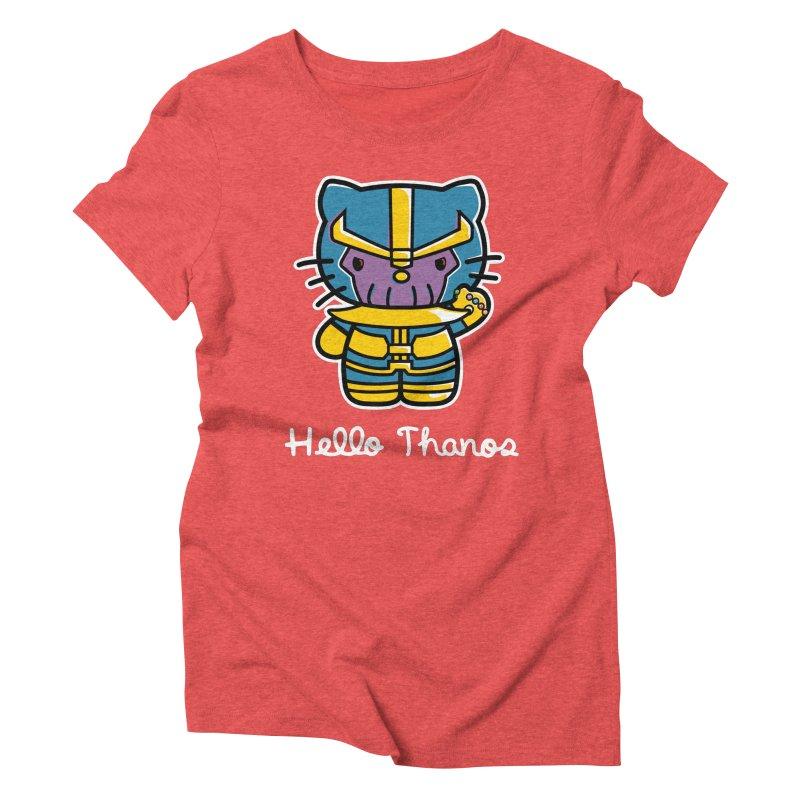 Hello Thanos Women's Triblend T-Shirt by Flaming Imp's Artist Shop