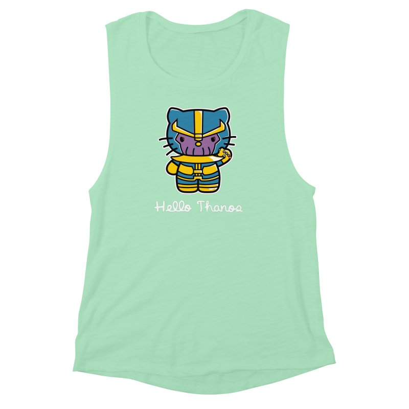 Hello Thanos Women's Muscle Tank by Flaming Imp's Artist Shop