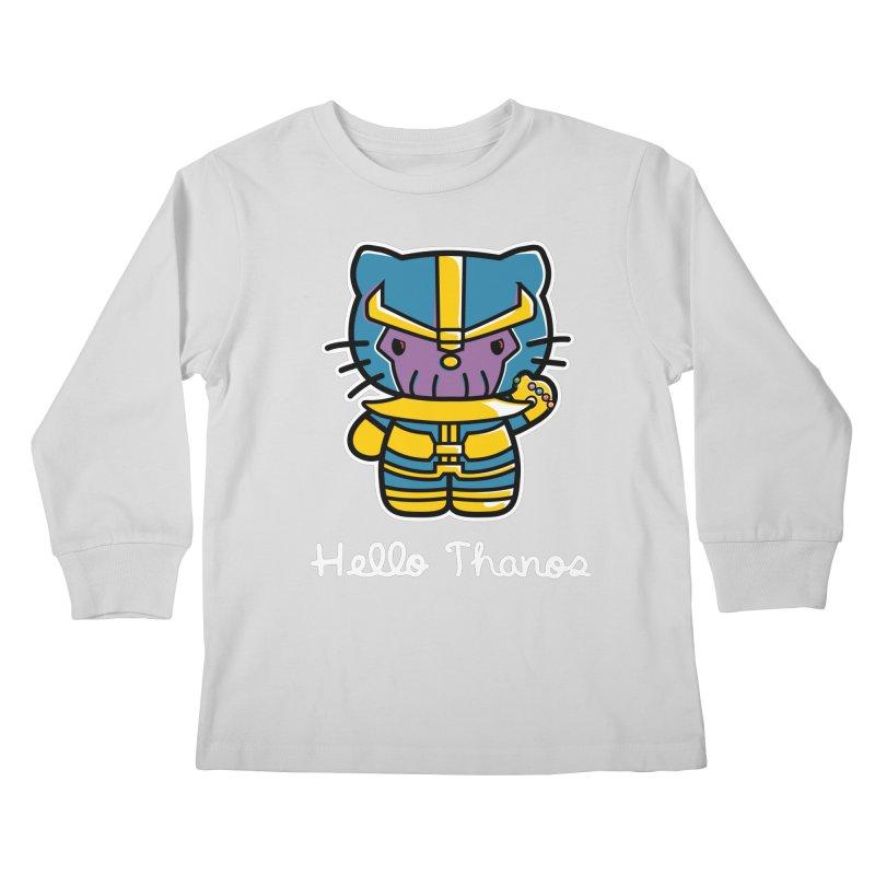 Hello Thanos Kids Longsleeve T-Shirt by Flaming Imp's Artist Shop