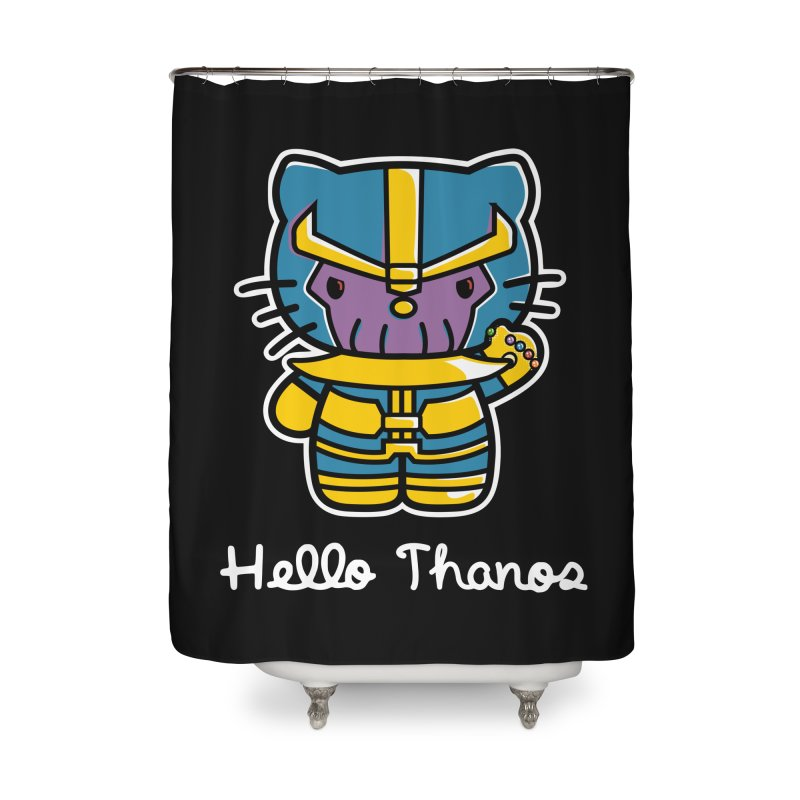 Hello Thanos Home Shower Curtain by Flaming Imp's Artist Shop
