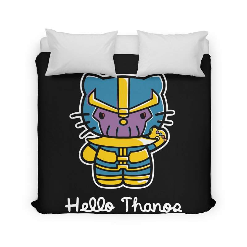 Hello Thanos Home Duvet by Flaming Imp's Artist Shop