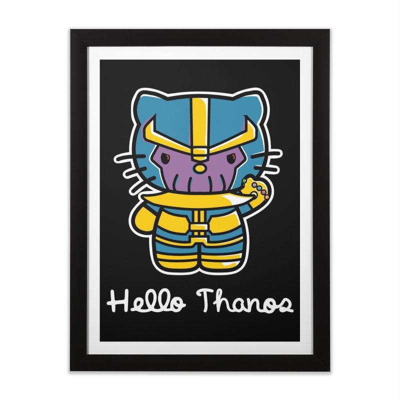 Hello Thanos Home Framed Fine Art Print by Flaming Imp's Artist Shop